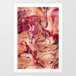 RoseGold Marble Art Print
