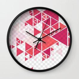 Modern red geometric background Wall Clock