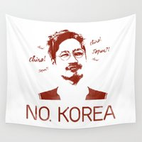 korea Wall Tapestries featuring No, Korea by HMS James