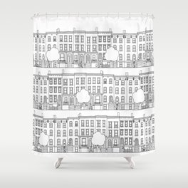 blocks of Brooklyn Shower Curtain