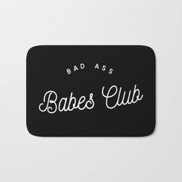 Bad Ass Babes Club B&W Bath Mat