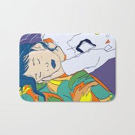 Cute sleeping asian girl. Bath Mat