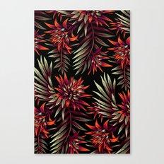 Aechmea Fasciata - Dark Orange / Purple Canvas Print