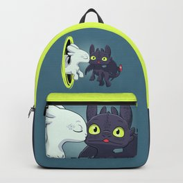 Kiss Fury // Kawaii Dragon, Cute Night & Light, Viking Backpack