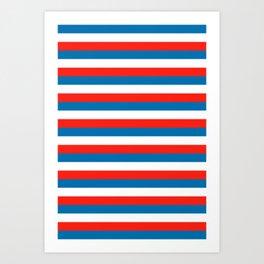 crimea faroe Wichita flag stripes Art Print