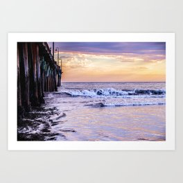 Ever Changing Cayucos Pier and Beach California Art Print