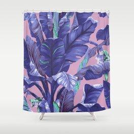 Banana Leaf love Shower Curtain