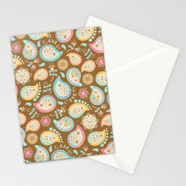 Hedgehog Paisley - Colors and Cocoa Stationery Cards