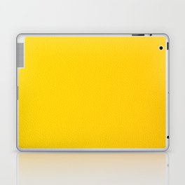 Yellow leather texture Laptop & iPad Skin