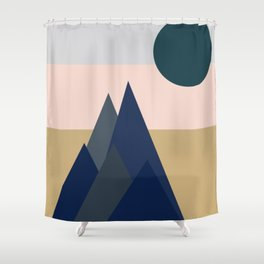 Abstract Geometric Mountain Landscape Shower Curtain