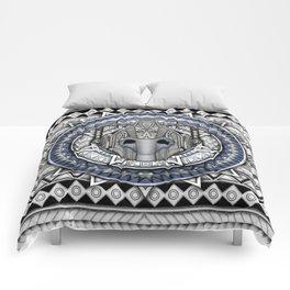 Aztec Cyberman Tardis Doctor who pencils sketch Comforters