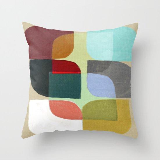 Color Overlay Throw Pillow