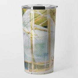 Sailboat with Coffee Stain Travel Mug