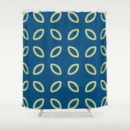 Julian leaf on blue pattern Shower Curtain