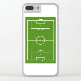 Football field fun design soccer field Clear iPhone Case