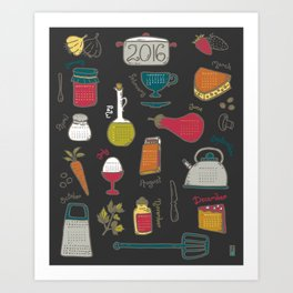 Kitchen Calendar 2016 Art Print