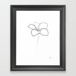 Oneline Frangipani Framed Art Print