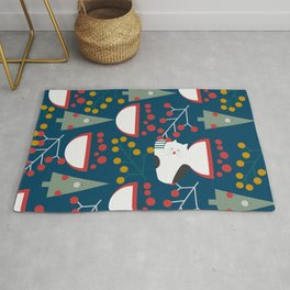 The red-nosed kitty Rug