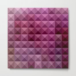 Byzantium Purple Abstract Low Polygon Background Metal Print