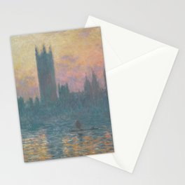 The Houses of Parliament  Sunset by Claude Monet Stationery Cards