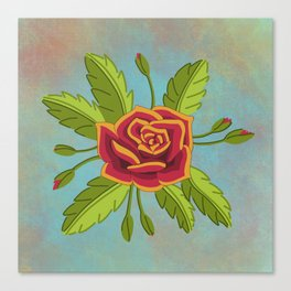 Rose and Rosebuds Canvas Print
