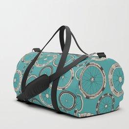 bike wheels turquoise Duffle Bag