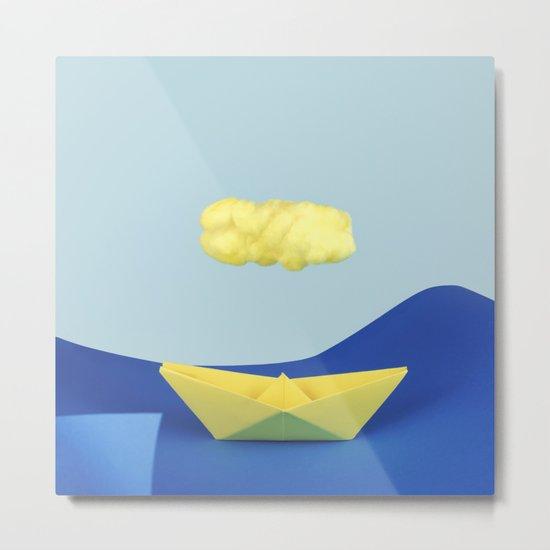 The yellow cloud over the yellow ship Metal Print