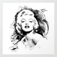 monroe Art Prints featuring Monroe by Ron Jones The Artist