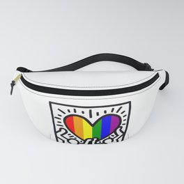 Pride heart, tribute to Keith Haring. Great LGBT gift. Fanny Pack