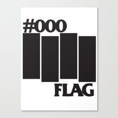 #000 Flag Canvas Print