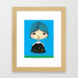 patricia, queen of the universe Framed Art Print