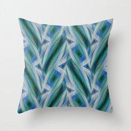 Break Dance Blue Turquoise Mint Throw Pillow