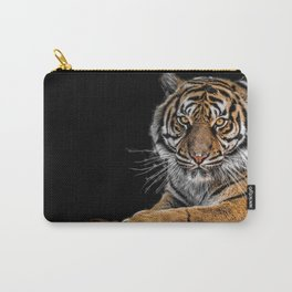 Breathtaking Beautiful Big Cat Isolated UHD Carry-All Pouch
