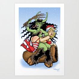 Krampus Spanking Art Print