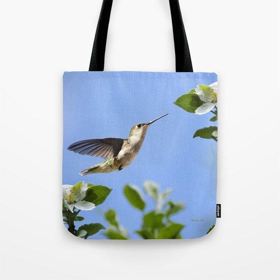 Spring Hummingbird Tote Bag
