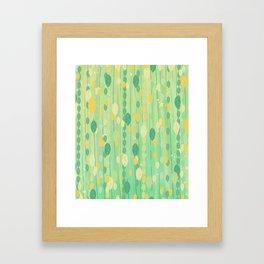 Leaf Pattern Framed Art Print