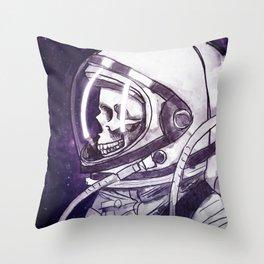 Skelenaut II Throw Pillow