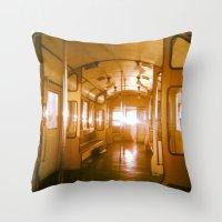 train Throw Pillows featuring Train  by Raquel Belloch