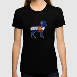 Native Colorado Gifts CO State Flag Colorado Pride Ram T-shirt