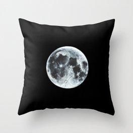 Full Moon Painting Throw Pillow