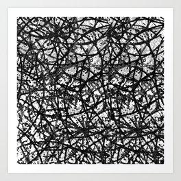 Grunge Art Abstract  G59 Art Print