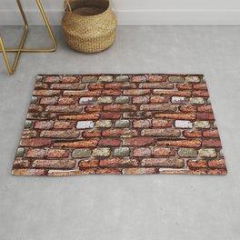 Red brick wall Rug