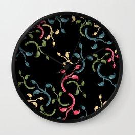 Flower Choral Wall Clock