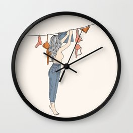 Girl Next Door Wall Clock