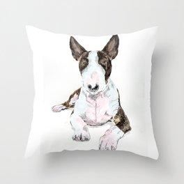 Bullterrier Dog Throw Pillow