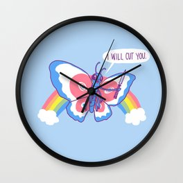 Butterfly Knife Wall Clock