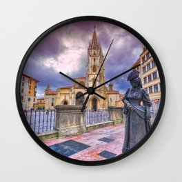 Cathedral of San Salvador  in Oviedo. Wall Clock