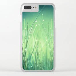 light-water and grass Clear iPhone Case