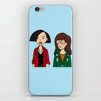daria iPhone & iPod Skins featuring Daria & Jane by Marianna
