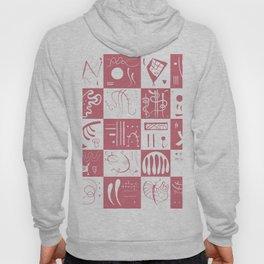 Kandinsky - White and Rose Pattern - Abstract Art Hoody